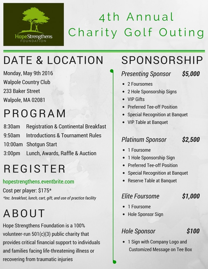 HSF 4th Annual Charity Golf Outing (1)