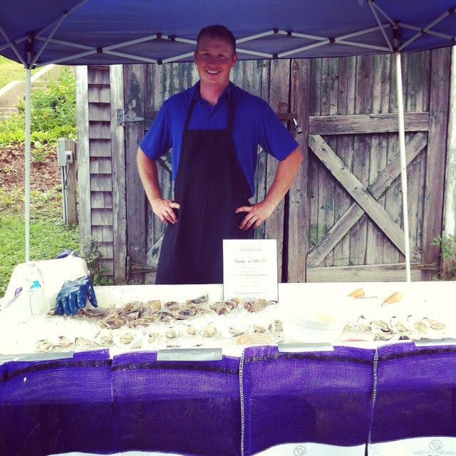 Jeremy's MV Spearpoint Oyster station at HSF's Roast & Raise Event